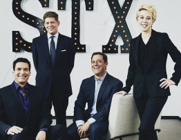 Photograph by Terence Patrick  STX Entertainment executives, Oren Aviv, Robert Simonds, Adam Fogelson, Sophie Watts